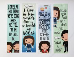Set of 4 Gilmore Girls Quote Bookmarks by BeyondthePages19 on Etsy
