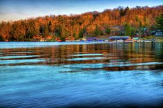 #ADK#Marinas#Adirondacks - Sun Setting on Rivett's Marine in Old Forge, New York.