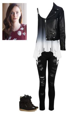 A fashion look from June 2017 featuring ombre shirts, real leather jackets and destructed jeans. Browse and shop related looks. Bad Girl Outfits, Teen Fashion Outfits, Teenager Outfits, Edgy Outfits, Swag Outfits, Cute Casual Outfits, Outfits For Teens, Look Skater, Really Cute Outfits