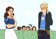 Avengers Academy Steve x Peggy by buttercookie #steggy