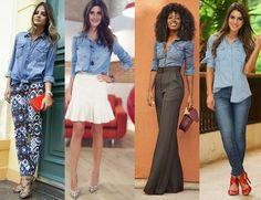 Cinderela de Mentira: Looks não convencionais com camisa jeans!