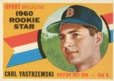 The 1960 Topps Baseball set marked a brief return to the horizontal design favored in the Light on rookies, it's still heavy on star power. I was at his last game ever played. Rare Baseball Cards, Baseball Card Values, Hockey Cards, Football Cards, Boston Sports, Boston Red Sox, Red Sox Nation, Baseball Posters, Baseball Park