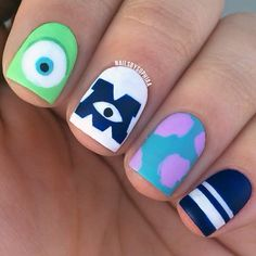 Nail art ideas for kids inspiration 48 super ideas Crazy Nail Art, Crazy Nails, Pretty Nail Art, Cute Acrylic Nails, Cute Nails, Gel Nails, Nail Manicure, Manicure Ideas, Nail Polish