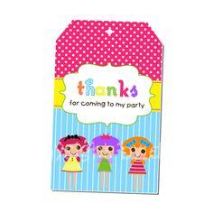 PRINTABLE Lalaloopsy Party Hang Tags. $5.00, via Etsy.