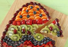 This fruit pizza recipe is perfect for brunch or a light dessert! It has a sugar cookie crust, strawberry cream cheese, and lots of fresh fruit on top.