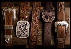 Western belts ahh I need Cintos Country, Country Girl Belts, Country Women, Country Outfits, Country Girls, Country Girl Style, Country Quotes, Cowgirl Belts, Western Belt Buckles