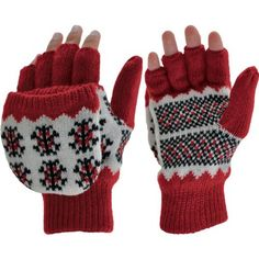 Manzella Women's Snowflake Convertible Half Finger Glove with Mitten * You can find more details by visiting the image link.