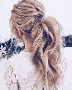 Gorgeous Ponytail Hairstyle Ideas That Will Leave You In FAB - ponytail wedding hairstyles #weddinghair #wedding #hairstyles #ponytail #bridehair #weddinghairstyles #weddingideas #'weddinghairstyles'