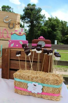 CreativePartiesandYou 's Birthday / Cowgirl Party - Photo Gallery at Catch My Party Horse Theme Birthday Party, Country Birthday Party, Horse Party, Cowgirl Birthday, Farm Birthday, Birthday Ideas, Rodeo Party, Cowgirl Party, Oreo