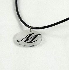 Monogram Shrinky Dinks Necklace