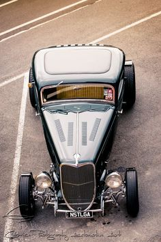 Cool Birds Eye View in the U.K. of a 34 Ford Five Window Coupe Hot Rod