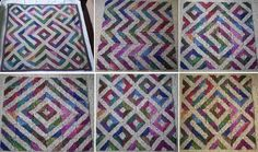 Pathways Blanket-This pattern is available as a free Ravelry download. Made up of simple garter stitch squares, this blanket is easy to knit but the real excitement comes when it's time to sew the squares together. They can be arranged in lots of ways to create many patterns, just a few of which are shown here.