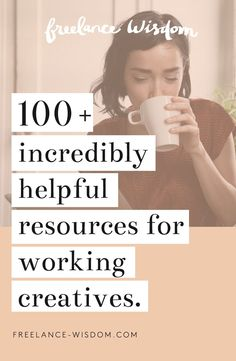 100+ incredibly helpful resources for working creatives. Great for freelance graphic designers, photographers, illustrators, bloggers, and more!