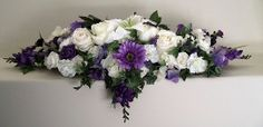 #Wedding reception #bridal #table #flowers top table purple
