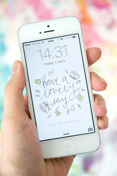 Lovely Day | Watercolor iPhone and desktop wallpapers – plus art printable freebie!
