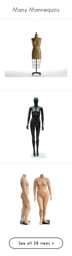 """""""Many Mannequins"""" by kellymailinglist ❤ liked on Polyvore featuring home, home decor, acrylic home decor, window mannequins, dolls, people, body parts, models, paper dolls and doll parts"""
