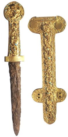 Skarb Kręgu Gonur – Bogtoharskie złoto z Tillya Tepe – Sarmacki sztylet i pochwa Bactrian
