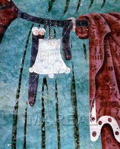 Hl. Christophorus  Kunstwerk: Freskomalerei ; Wandmalerei sakral ; Außenfresko ; Brixen  Dokumentation: 1450 ; 1475 ; St. Ulrich in Gröden ; Italien ; Südtirol ; Filialkirche St. Jakob