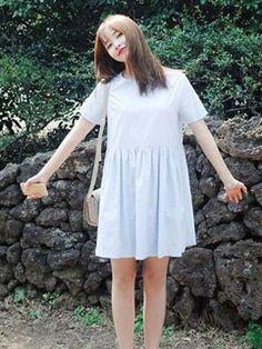 Korean Fashion College Style Plus Size Dresses