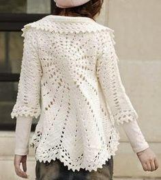 Ivelise Hand Made: Circular Coat Of Crochet