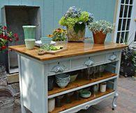 Old Dresser as a New Kitchen Island