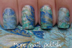 More Nail Polish: Tissue paper nail art