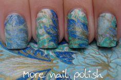 More Nail Polish: Tissue paper nail art