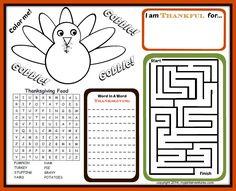 Kids Thanksgiving Activity Printables - My Pinterventures