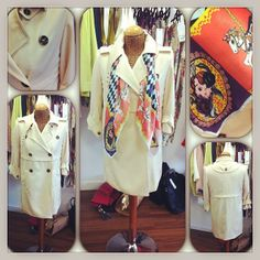 Jovonna You & Me Trench #coat sizes 8,10,12,14 - £75 Helen Ruth carousel #scarf WAS £135 NOW £37.80 #newin #ss14 #feathersboutique #liverpool #summer #spring