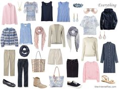 How to Build a Capsule Wardrobe of Accessories: Denim, Stone, Pink and Soft Blue, 1 at a Time