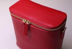 Leather bucket bag shoulder bag Green Red White black for women leathe | EverHandmade