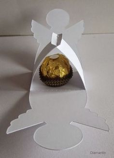 Diamantin's Hobbywelt: Project with Ferrero - Rocher-Engel Angel Crafts, Diy And Crafts, Christmas Crafts, Crafts For Kids, Christmas Decorations, Paper Crafts, Christmas Ornaments, Diy Xmas, Origami Christmas