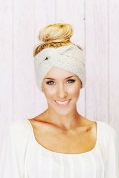 Grey Twist Crochet Ear Warmer Headband - Crochet Ear Warmer Headband For Women