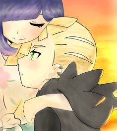 :hug gladion: (I have a purple hair?! Nice.) Found from the Twitter https://mobile.twitter.com/ochamochi_2130