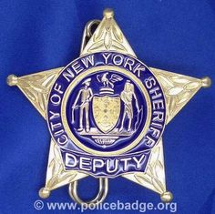 Badge NYPD Deputy Sheriff by dynamicentry122, via Flickr