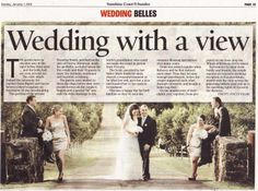 Wedding Belles in the Sunshine Coast Daily Newspaper www.suzanneriley.com.au Suzanne Riley Marriage Celebrant Sunshine Coast