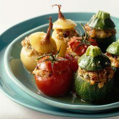Découvrez la recette Les vrais légumes farcis à la provençale sur cuisineactuelle.fr.