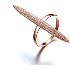 Cz Diamond Bar Ring in Rose Gold.The Rings Trendy Deco Design has a Long Design for the Full Finger and set with Cubic Zirconia Diamonds. It Can be also Worn on the Knuckle as Well. Made Upon Order Pl