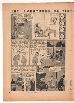 """Tintin LE Lotus Bleu Pousse Pousse LE Petit """"Vingtieme"""" N°13 1935 Quick Et Flupke, Lotus Bleu, Air Space, Space Crafts, Vintage World Maps, Ships, Journal, Cars, Comics"""