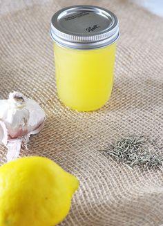 Garlic, Lemon & Rosemary Infused Olive Oil