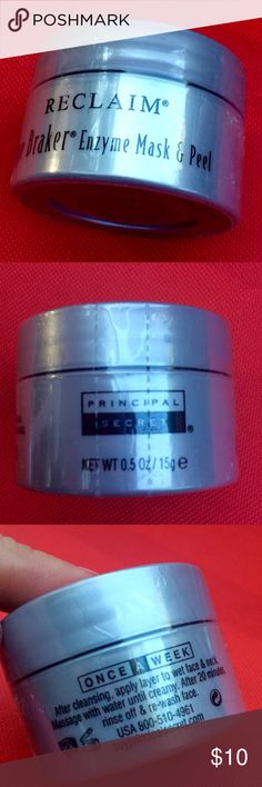 Principal Secret Age Braker Enzyme Mask & Peel New, factory seal unbroken.  Full size 0.5 oz. For those with sensitivities, this is fragrance free. Principal Secret Other