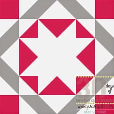 """Piece N Quilt: How to: Union Star Quilt Block - 30 Days of Sewing Quilt Blocks- Star Version!-This block will finish at 12""""x12"""" square."""