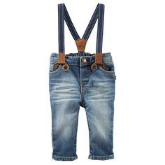Suspender Jeans - Derby Wash   Carters.com