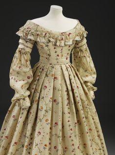Dress 1837-1840 The Victoria & Albert Museum