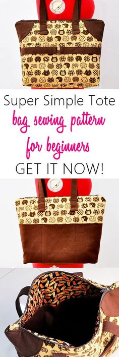 tote sewing pattern | purse patterns | how to sew a tote | everyday bag | handbag pattern