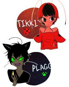 Tikki e Pagg Miraculous Ladybug and Chat Noir Ladybug Kwamis, Comics Ladybug, Ladybug Anime, Otaku Anime, Anime Art, Lady Bug, Cn Fanart, Tikki Y Plagg, Marinette E Adrien