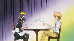 Misaki ♥ Usui - beaten at cards Usui Takumi, Anime Expo, Anime Art, Best Love Stories, Kaichou Wa Maid Sama, Manga Characters, Anime Ships, Shoujo, Anime Couples