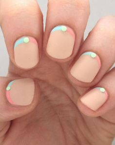 18 Chic Nail Designs for Short Nails: #6. Beautiful Pastel Nail Design