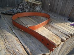 Nocona Brown Leather Belt Needs Buckle Size by PoisonPuddingFaire