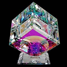Optical Glass Cube. This is so amazing, intriguing, and beautiful!